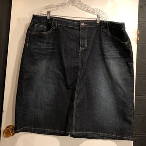 Christopher & Banks Denim Skirt. Size 24